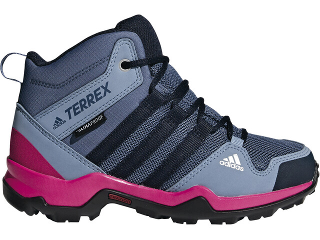 adidas TERREX AX2R ClimaProof Chaussures outdoor mi-hautes Fille, teck ink/legend ink/real magenta